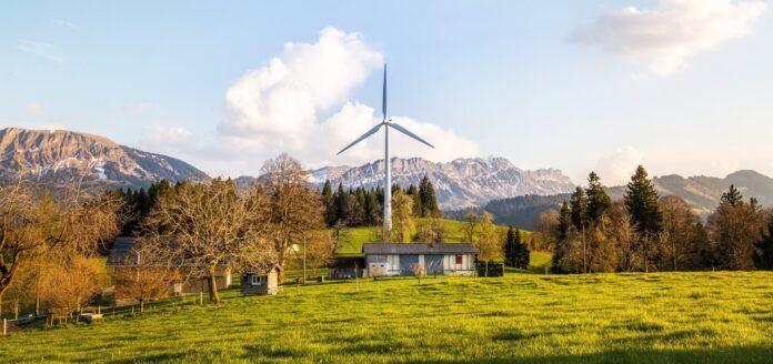 éolienne maison paysage